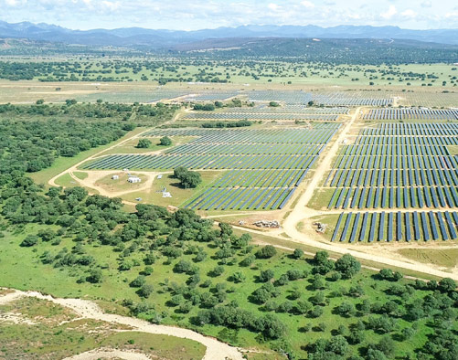 View of the Valdesolar plant