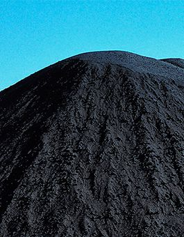 Close-up of a petcoke