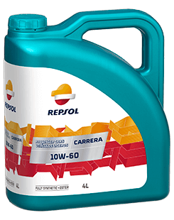 Repsol Carrera 10W60 Lubricant bottle