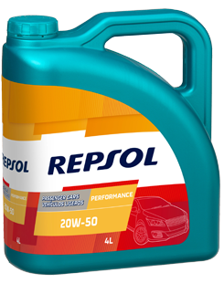 Repsol Performance 20W50 lubricant bottle