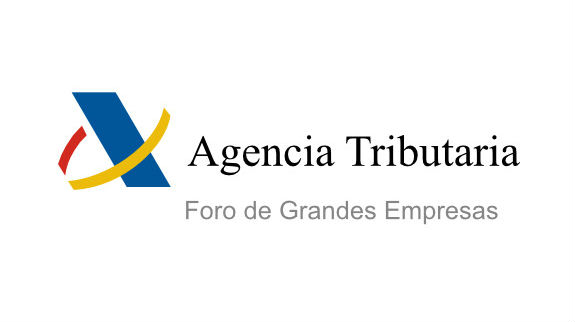 AEAT (Spanish Tax Agency) logo.