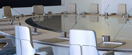 Shot of empty chairs in the Board of Directors meeting room