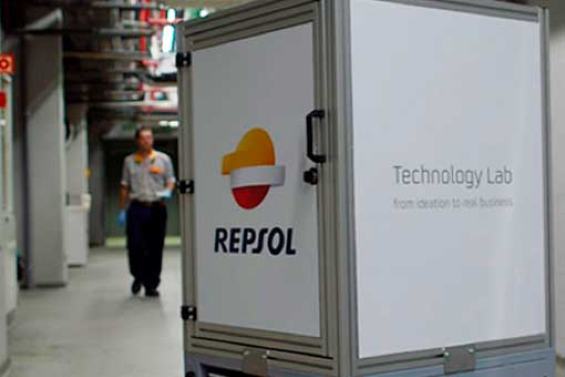 Vista de un robot del Repsol Technology Lab