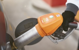 Closeup of a Repsol Autogas pump
