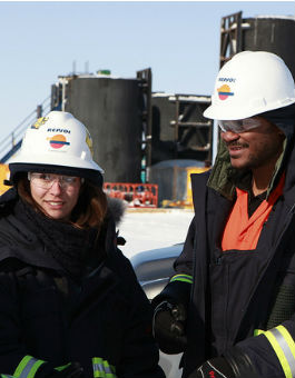 Repsol employees in the field