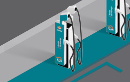 Illustration of a Repsol electric vehicle charging station
