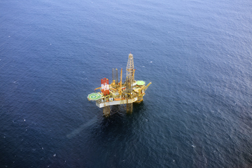 Offshore oil rig in Cardon IV