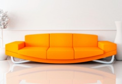 An orange couch