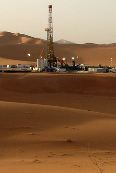 Repsol facilities in the African desert