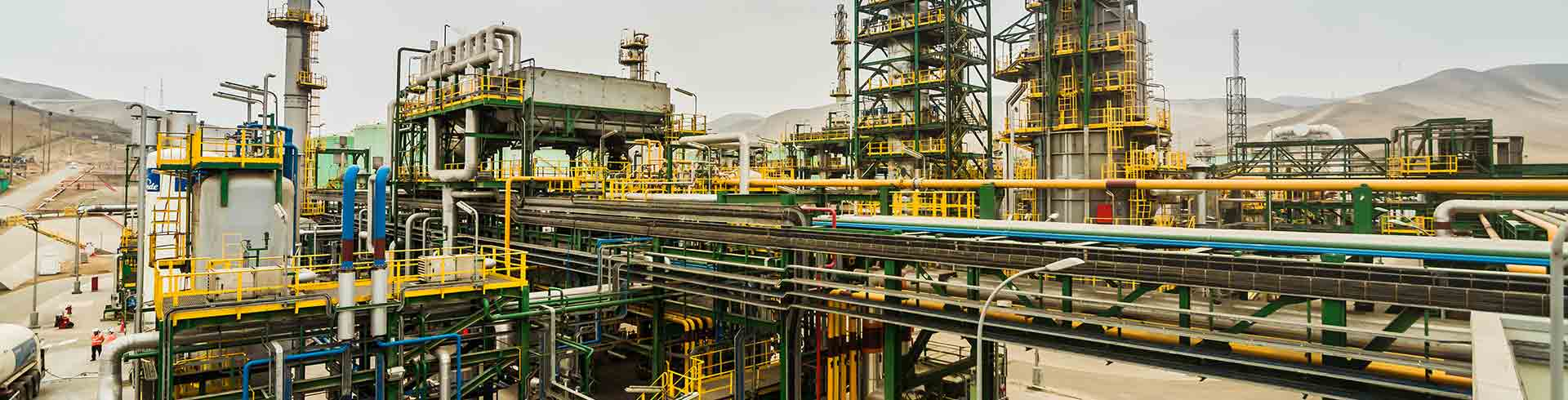 View of a Repsol industrial complex