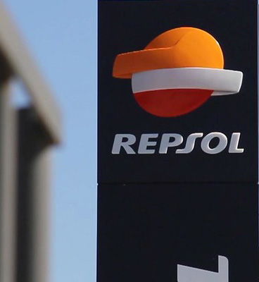 Repsol logo at a service station