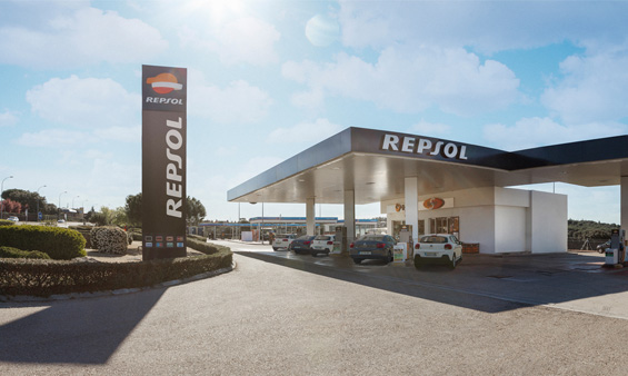 View of a Repsol Service Station
