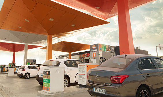 View of Repsol service station