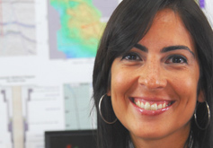 Verónica Castillo, senior geoscientist at the Repsol offices in Houston