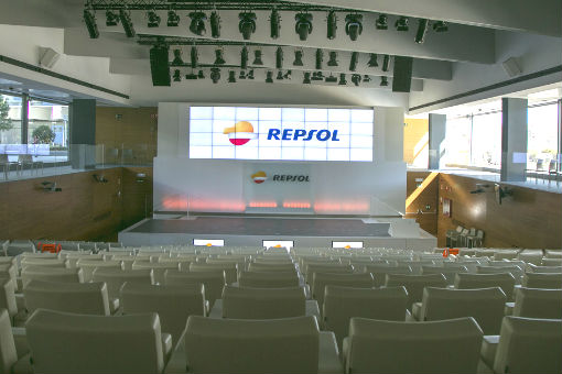 Shot of the Repsol Campus auditorium