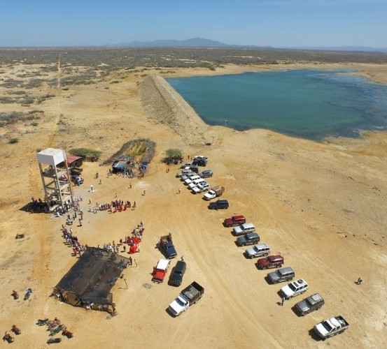 Aerial view of the exploration zone at La Guajira.